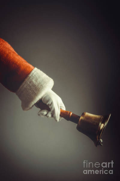 Wall Art - Photograph - Santa Ringing Bell by Amanda Elwell