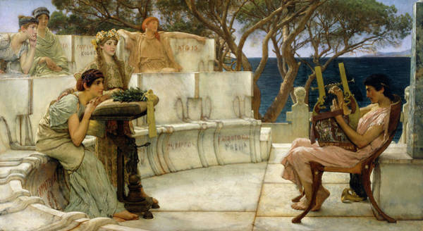 Wall Art - Painting - Sappho And Alcaeus by Sir Lawrence Alma-Tadema