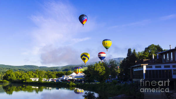 Photograph - Saturday Morning At The Quechee Balloon Festival. by New England Photography