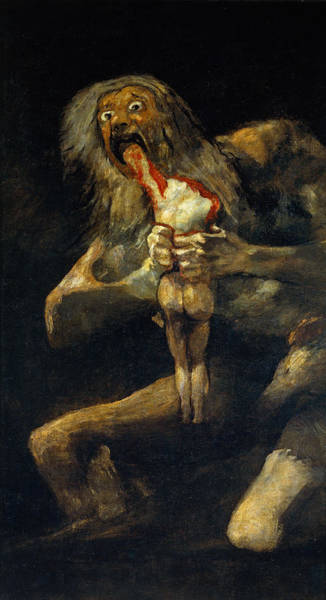 Metaphor Painting - Saturn Devouring One Of His Sons by Francisco Goya