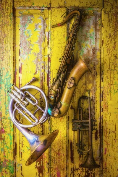 Wall Art - Photograph - Sax French Horn And Trumpet by Garry Gay