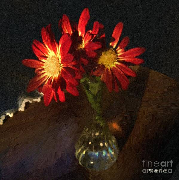 Painting - Scarlet And Gold by RC DeWinter