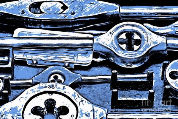 Do It Yourself Digital Art - Screw Taps - Hand Tools by Michal Boubin