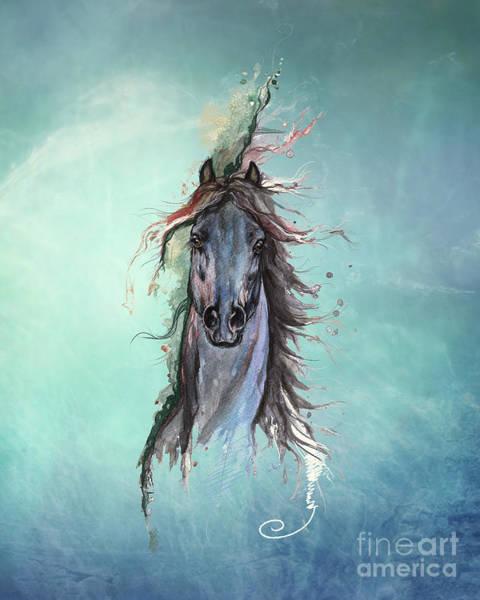 Wall Art - Digital Art - Sea Horse by Angel Ciesniarska