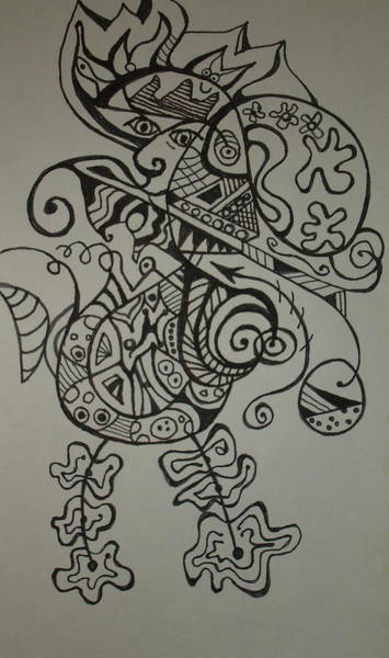 Oahu Drawing - Sea Paniolo by Erika Swartzkopf