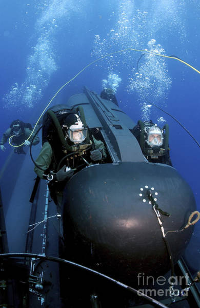 Photograph - Seal Delivery Vehicle Team Members by Stocktrek Images