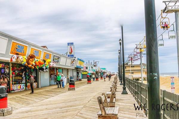 Wall Art - Photograph - Seaside Boardwalk by William Rogers