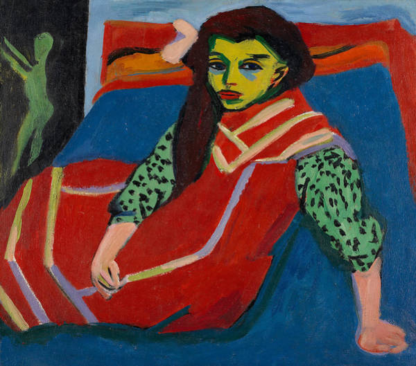 Painting - Seated Girl  by Ernst Ludwig Kirchner