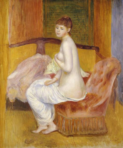 Bottom Painting - Seated Nude by Pierre Auguste Renoir