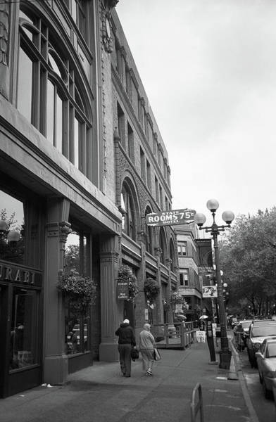 Photograph - Seattle Cheap Hotel Bw by Frank Romeo