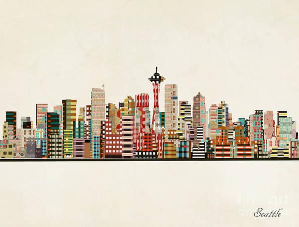 Wall Art - Painting - Seattle Skyline by Bri Buckley