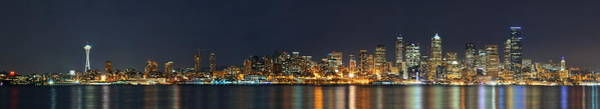 Wall Art - Photograph - Seattle Skyline by Songquan Deng