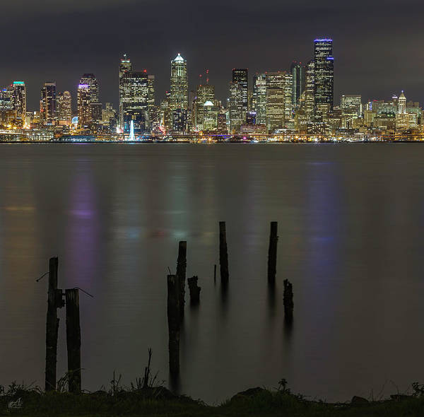Piling Photograph - Seattle Skyline by Thomas Ashcraft