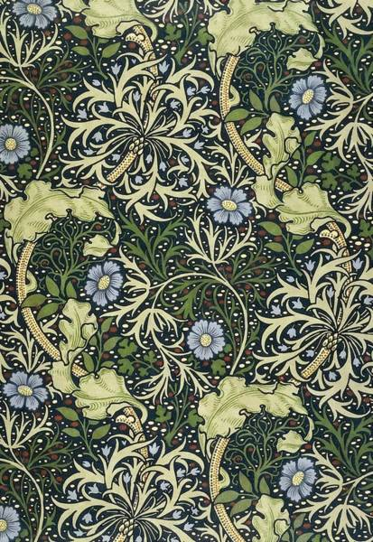 Tapestries Textiles Wall Art - Painting - Seaweed Pattern by William Morris