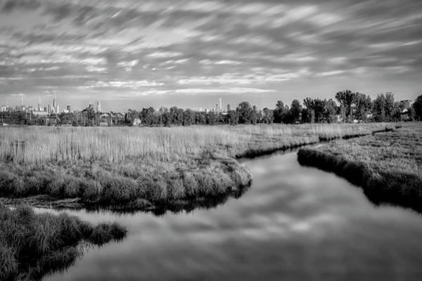 Photograph - Secaucus Greenway Trail Nj Bw by Susan Candelario