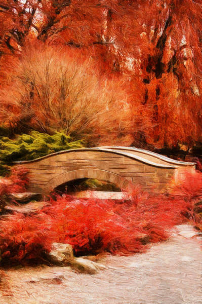 Digital Art - Secret Footbridge by JGracey Stinson