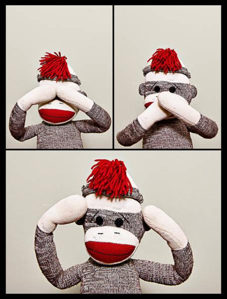 Sock Monkey Photograph - Seehearspeakno... by Amber Snead