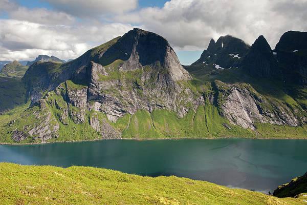 Photograph - Segltinden And Kirkefjord From Brunakseltind by Aivar Mikko