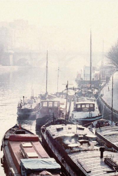 Digital Art - Seine River Boats by Julian Perry