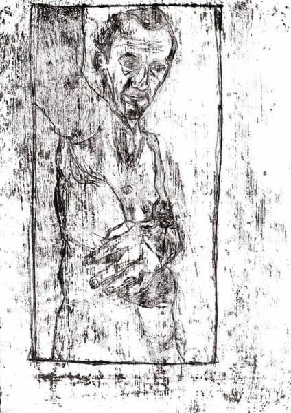 Drawing - Self Male Nude by Artist Dot