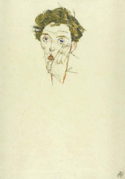 Painting - Self Portrait by Egon Schiele