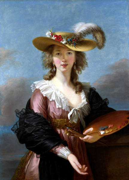 Wall Art - Painting - Self-portrait In A Straw Hat by Elisabeth Louise Vigee Lebrun