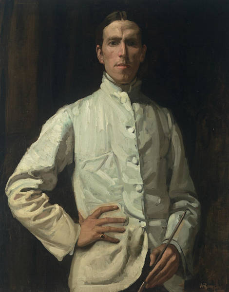 Painting - Self-portrait In White Jacket by Hugh Ramsay