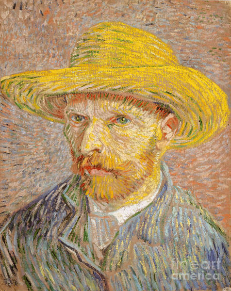 Painting - Self-portrait With A Straw Hat by Vincent Willem van Gogh