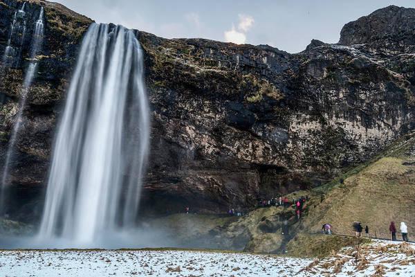 Photograph - Seljalandsfoss Waterfalls View In Winter, Iceland by Pradeep Raja PRINTS