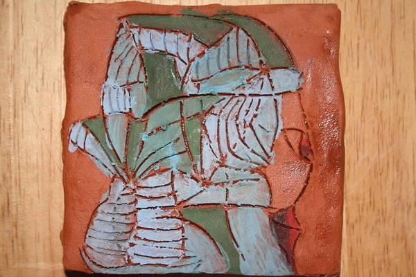 Ceramic Art - Sentry - Tile by Gloria Ssali