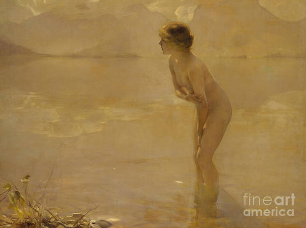 Adolescent Painting - September Morn by Paul Chabas