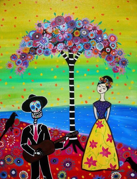 Wall Art - Painting - Serenading Frida by Pristine Cartera Turkus