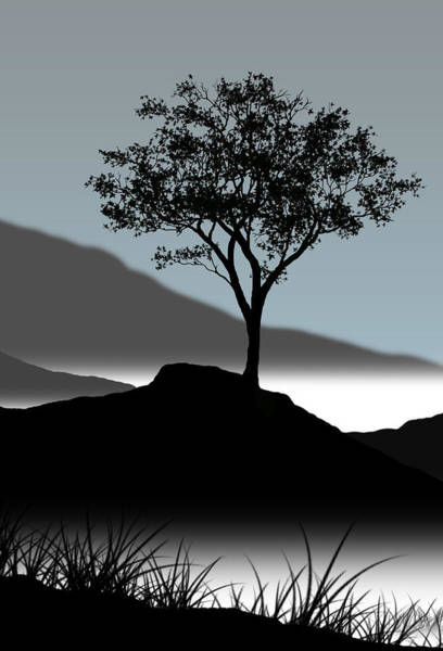 Lone Digital Art - Serene by Chris Brannen