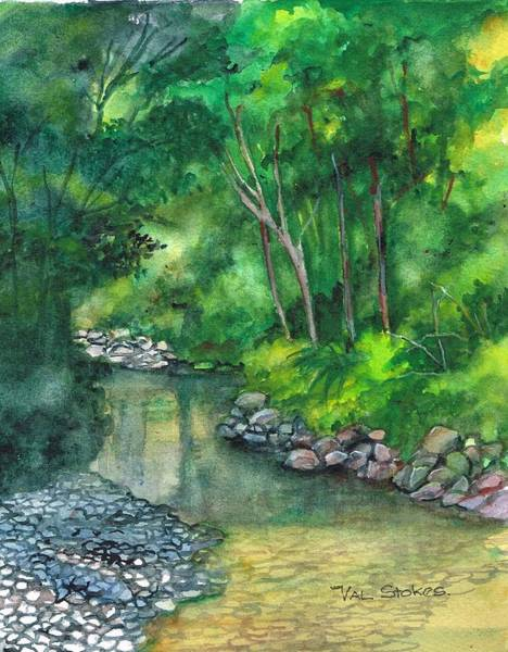 Painting - Serenity by Val Stokes