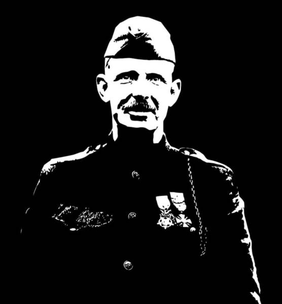 Wwi Wall Art - Mixed Media - Sergeant Alvin York Graphic by War Is Hell Store