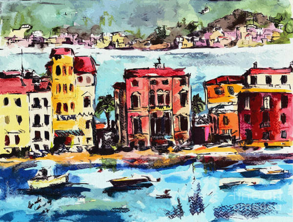 Levante Wall Art - Painting - Sestri Levante Italy Bay Of Silence by Ginette Callaway