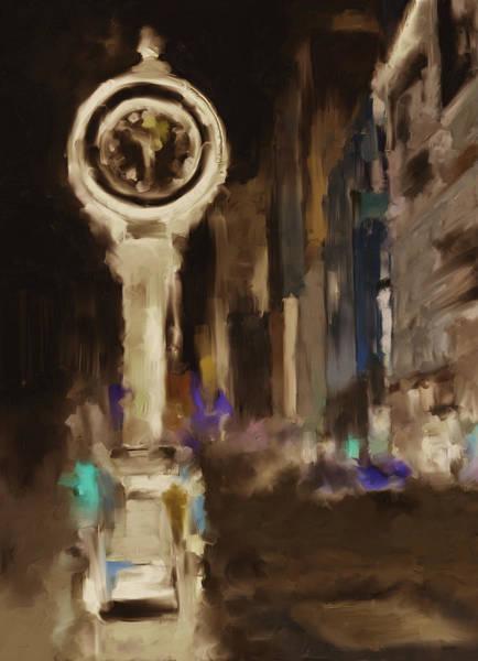 Chinatown Painting - Seth Thomas Clock Ny 562 4 by Mawra Tahreem