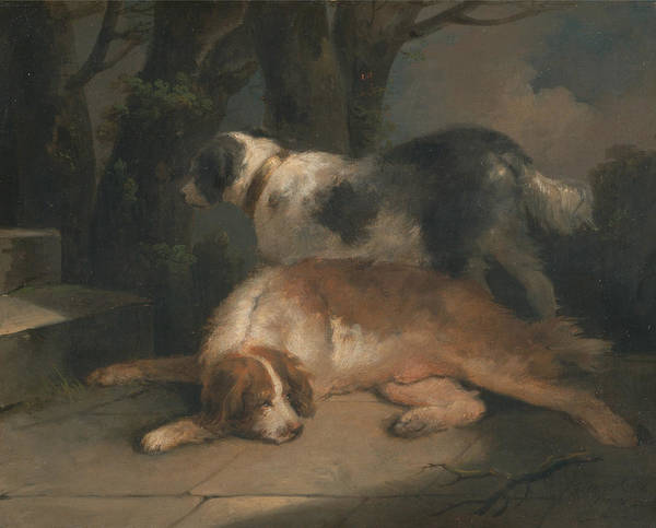 Wall Art - Painting - Setters by George Morland
