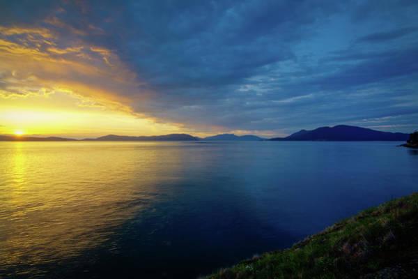 Wall Art - Photograph - Setting Sun Over Rosario Strait by Rich Leighton