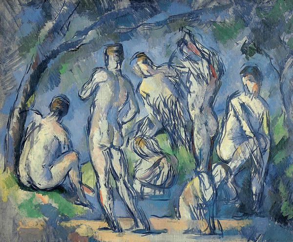 Painting - Seven Bathers  by Paul Cezanne