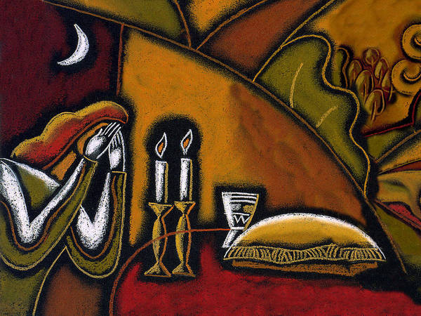 Wall Art - Painting - Shabbat Shalom by Leon Zernitsky