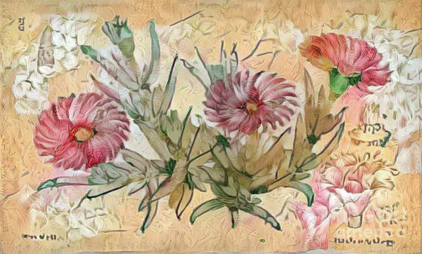 Wall Art - Photograph - Shabby Chic Botanical Flowers by Amy Cicconi