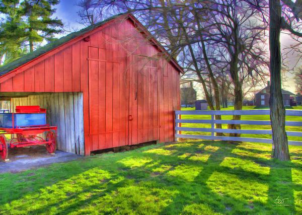 Photograph - Shaker Carriage Barn 2 by Sam Davis Johnson