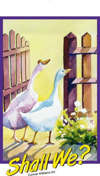 Painting - Shall We? by Connie Williams
