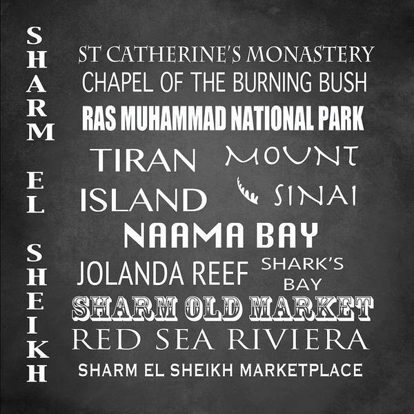 Wall Art - Digital Art - Sharm El Sheikh Famous Landmarks by Patricia Lintner