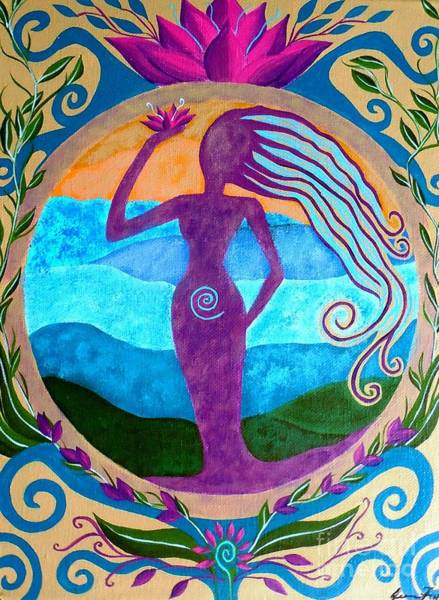 Wall Art - Painting - She Heals by Jean Fry