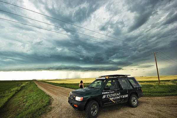 Photograph - Shelf Cloud Near Vibank Sk. by Ryan Crouse