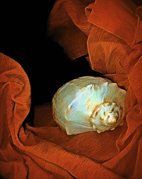 Mixed Media - Shell On Satin by Lynda Lehmann