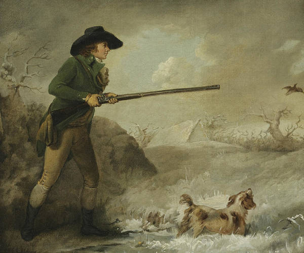 Wall Art - Painting - Shooting, Winter by George Morland