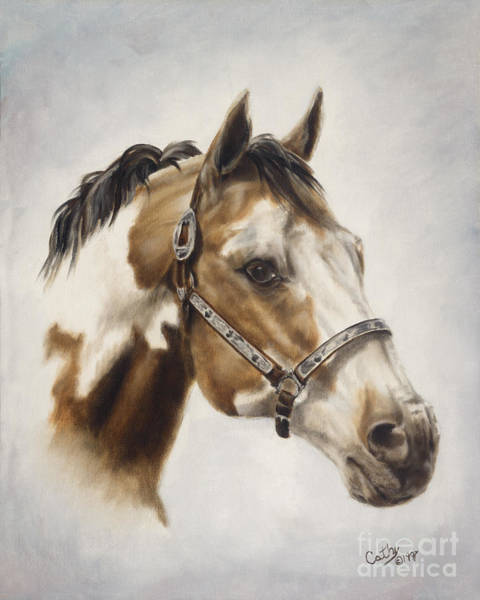 Quarter Horse Painting - Show Off by Cathy Cleveland